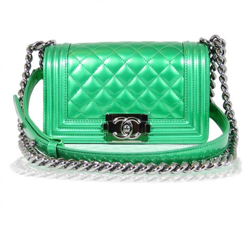 Chanel Green Satchel Front