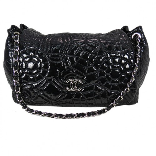 Black Chanel Quilted Front